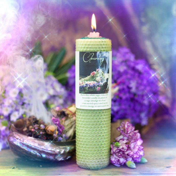 Clearing Beeswax Intention Candle_8_6_1of1