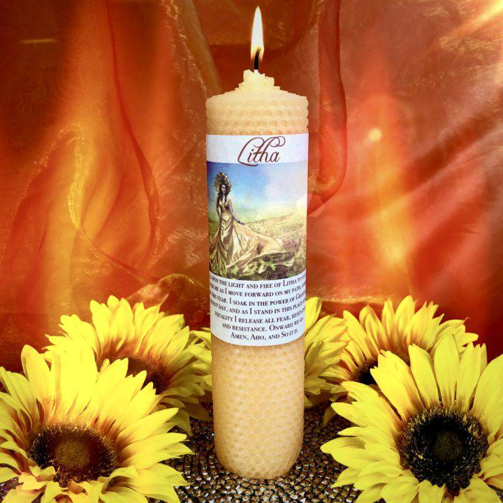 Litha Beeswax Intention Candles