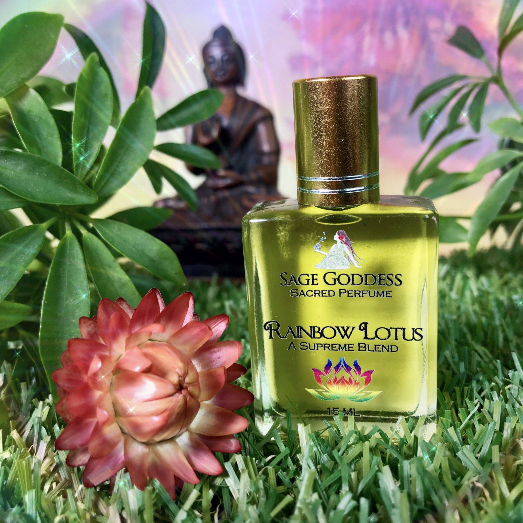 Rainbow Lotus Perfume For Enlightenment And Higher Consciousness