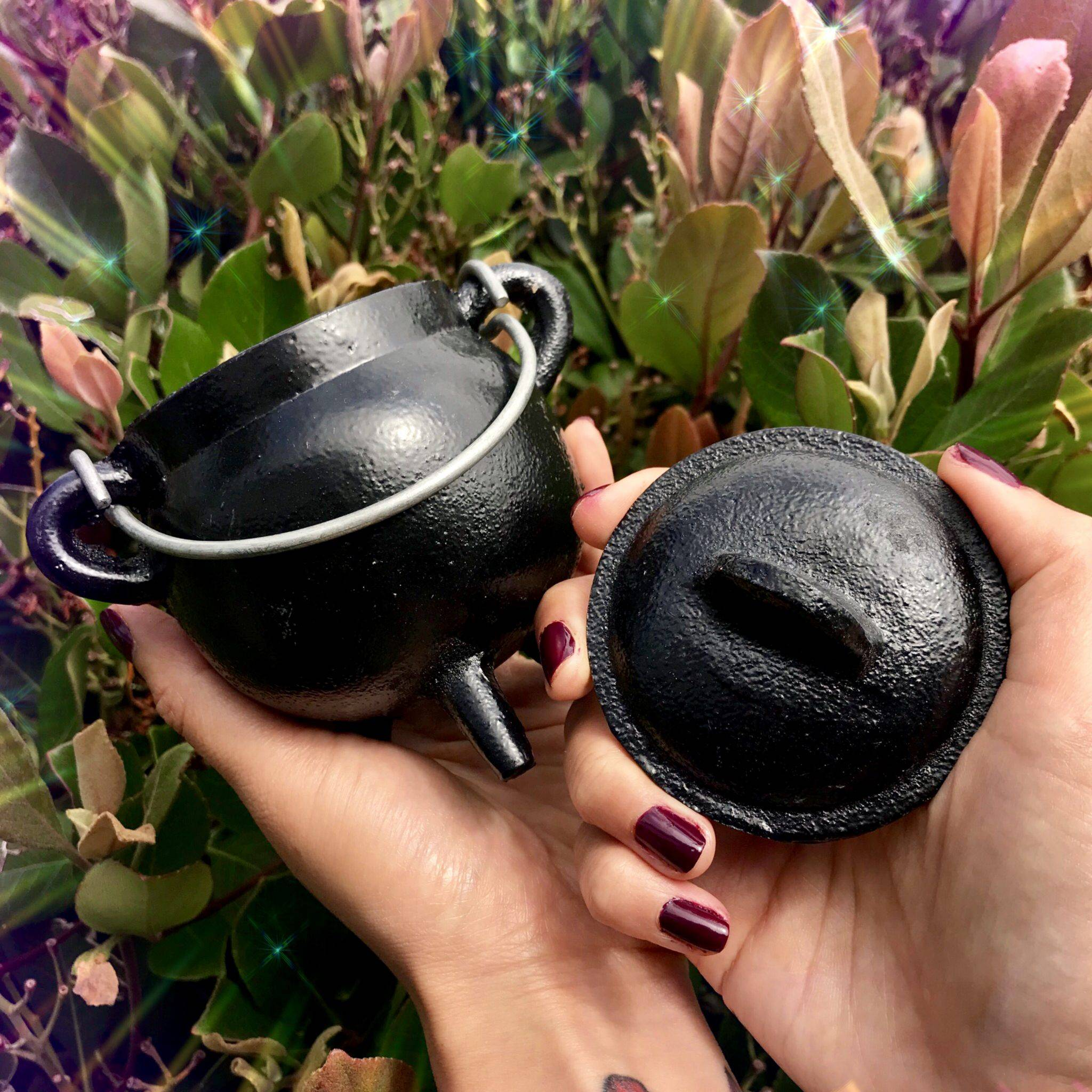 Hecate's Cauldron with free white sage bundle for making your own magic