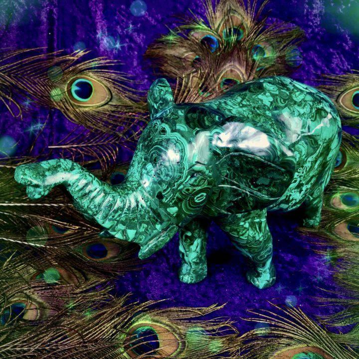 Malachite_Elephant_Carving_Wholesale_1of3