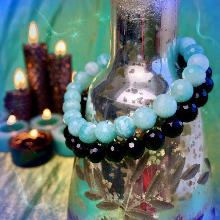 Grounded_Communication_Amazonite_and_Black_Agate_Stacker_Bracelets_1of3_7_31