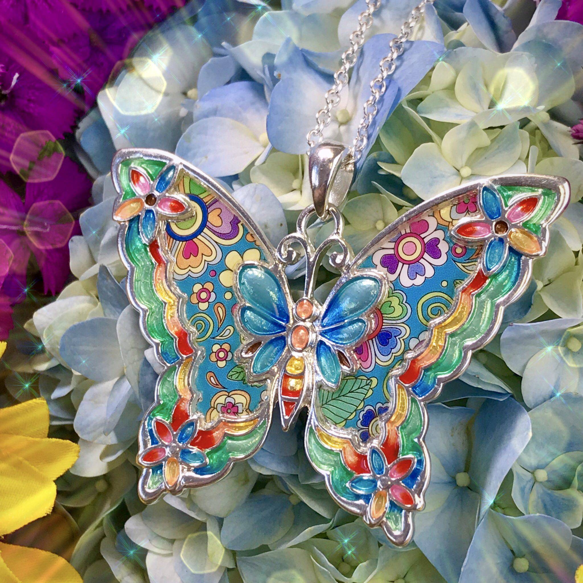 Series A. Number 2 of 5 Necklace and Bracelet Butterfly of Transformation