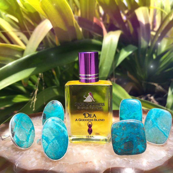 Chrysocolla Adjustable Rings With DEA Perfume_8_1_1of5