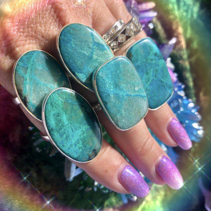 Chrysocolla Adjustable Rings With DEA Perfume_8_1_2of5