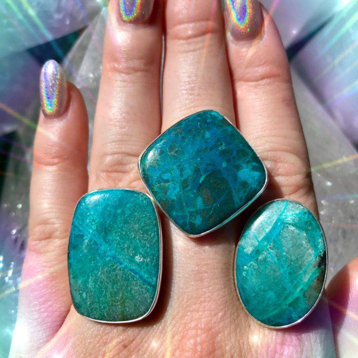 Chrysocolla Adjustable Rings With DEA Perfume_8_1_5of5
