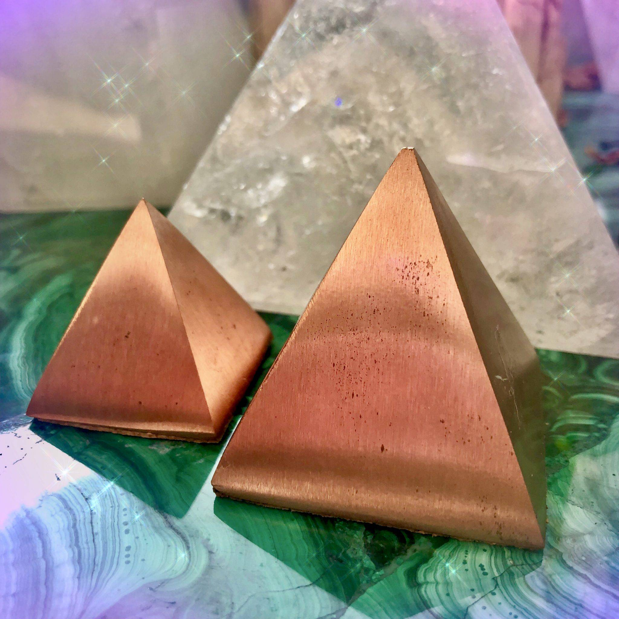 Energetic Conducting Copper Pyramids for channeling positivity