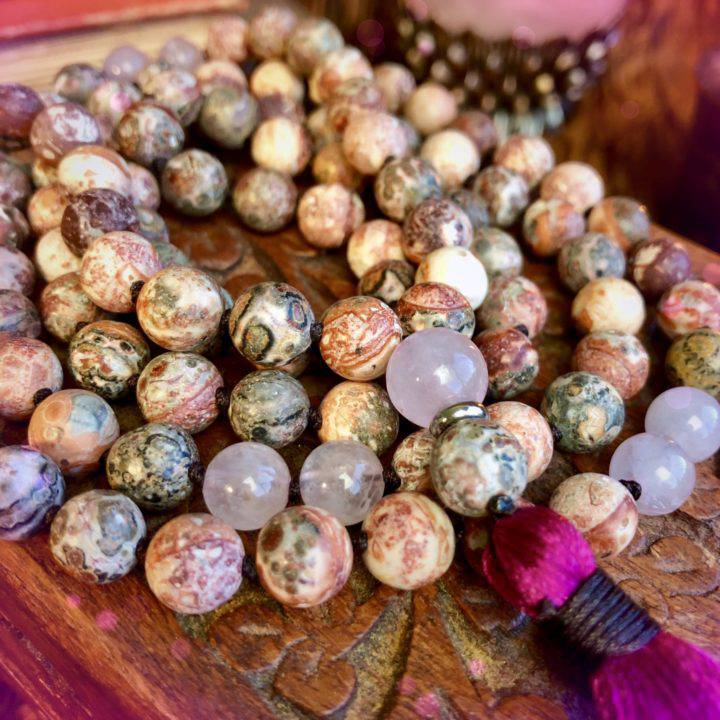 Love_the_Journey_Leopardskin_Jasper_and_Rose_Quartz_Mala_3of3_8_7