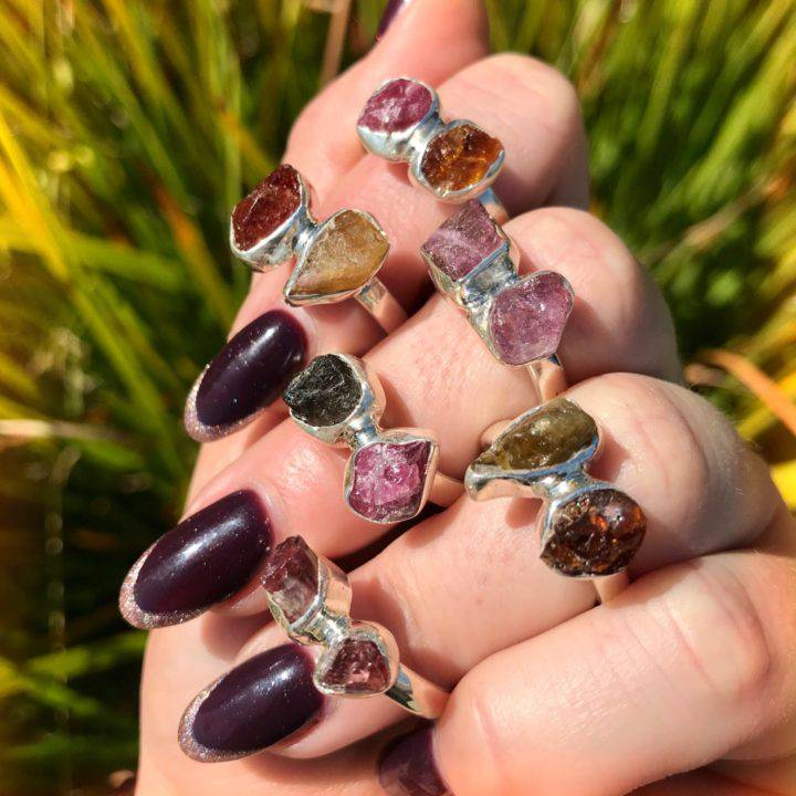 Mixed Tourmaline Rings