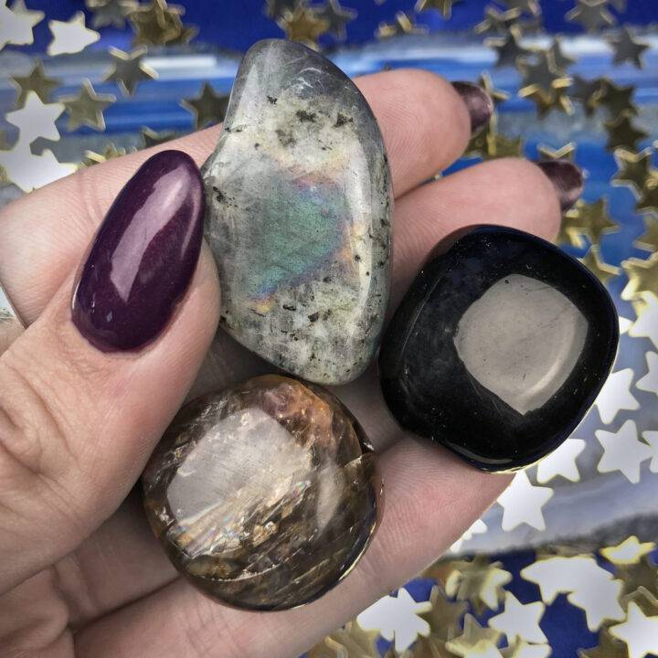 Moon Phase Gemstone Trio: New