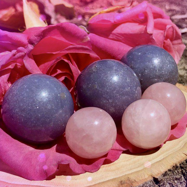 Relaxed_Heart_Lepidolite_and_Rose_Quartz_Sphere_Duo_1of3_8_25