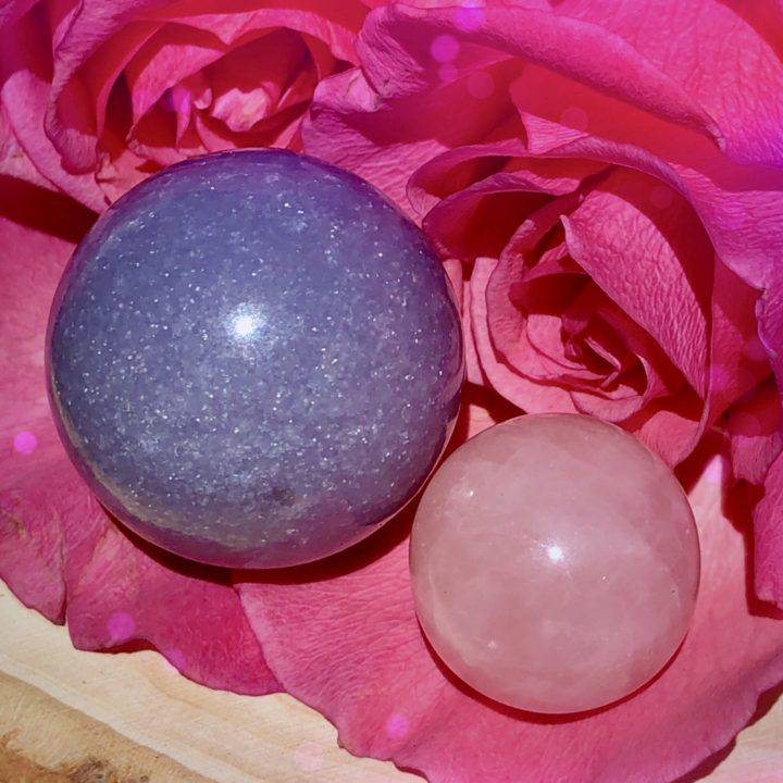 Relaxed_Heart_Lepidolite_and_Rose_Quartz_Sphere_Duo_3of3_8_25