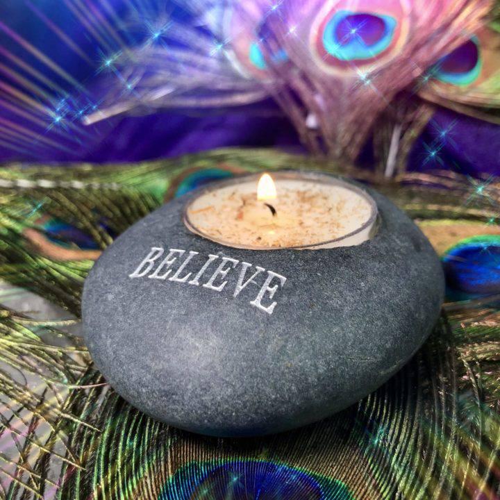 River_Rock_Tealight_Holder_Believe_Wholesale_3of3