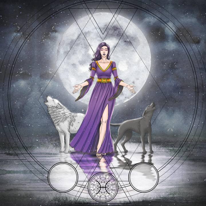 The Moon XVIII Ritual Set