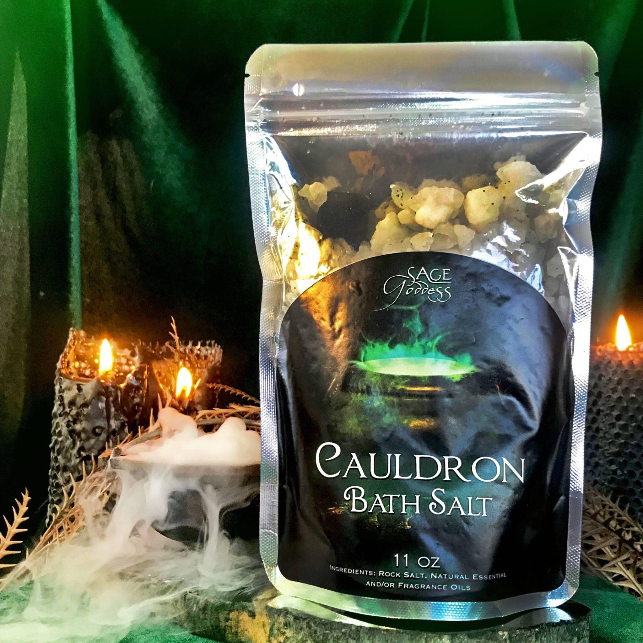 Cauldron Bath Salts for wisdom, grounding, and personal strength