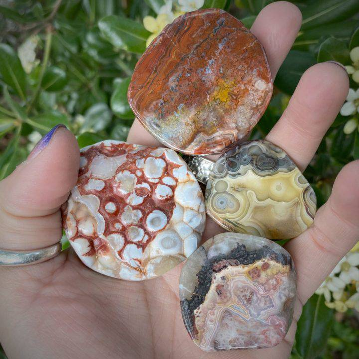Healing and Protection Crazy Lace Agate Slices