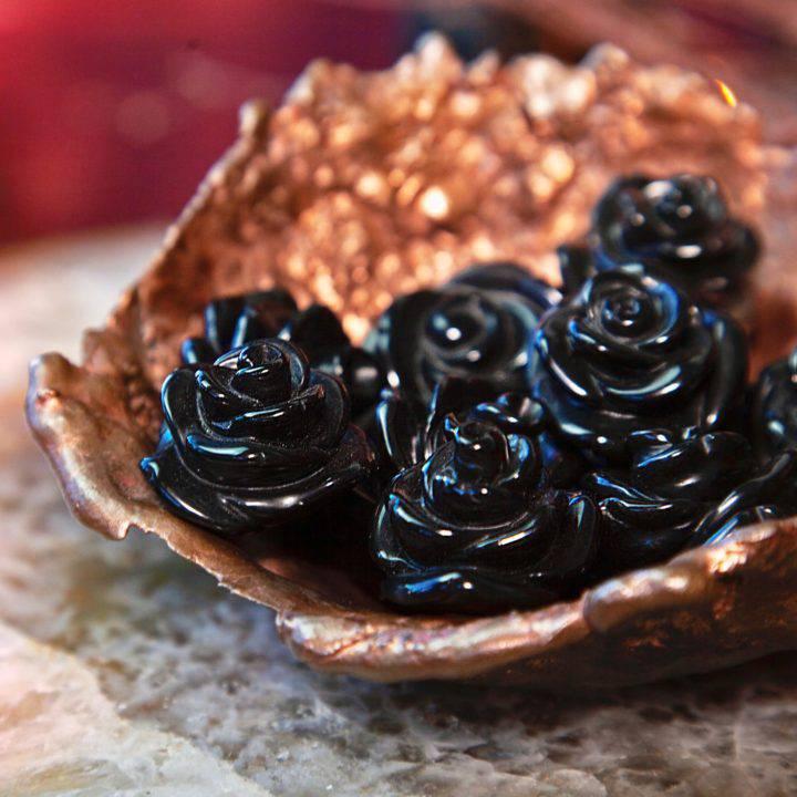 Black Obsidian Roses