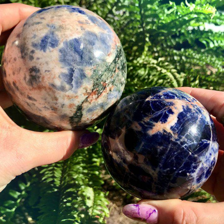 Sunset Sodalite Spheres