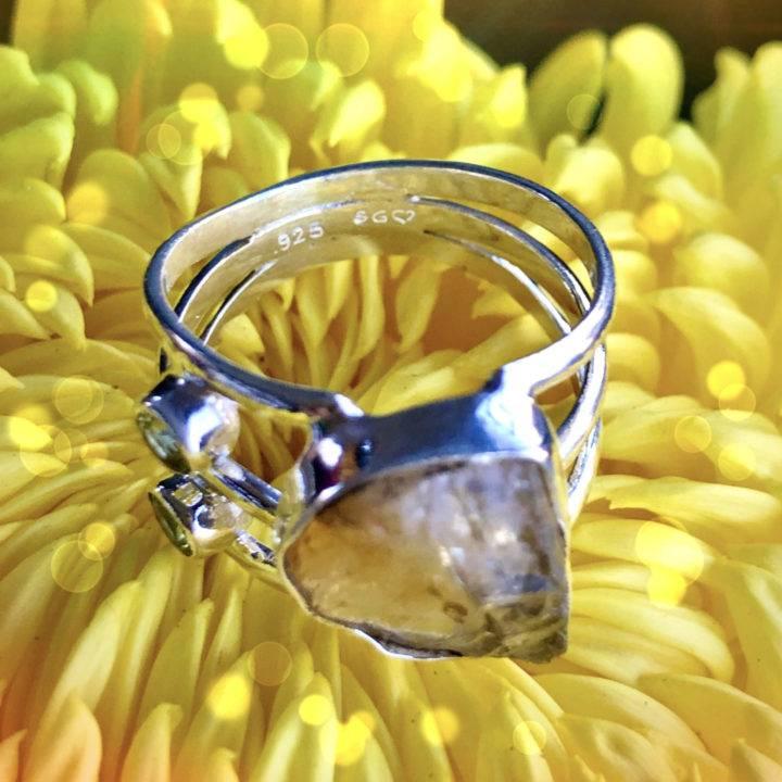 Citrine and Peridot Rings