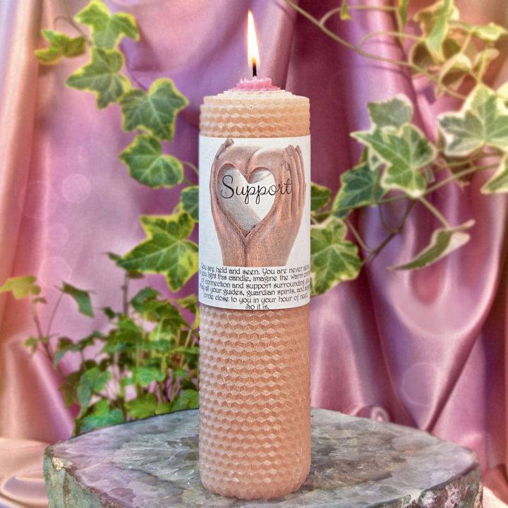 Support Beeswax Intention Candles 1of1 10 30
