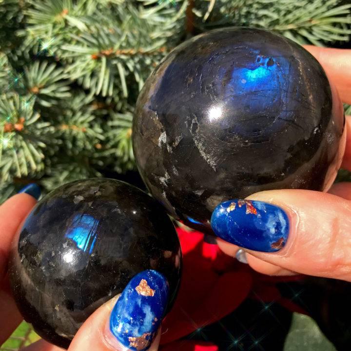 AAA Rare Authentic Nuummite Spheres
