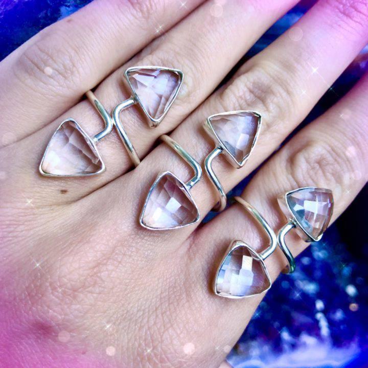 Clear Quartz Rings