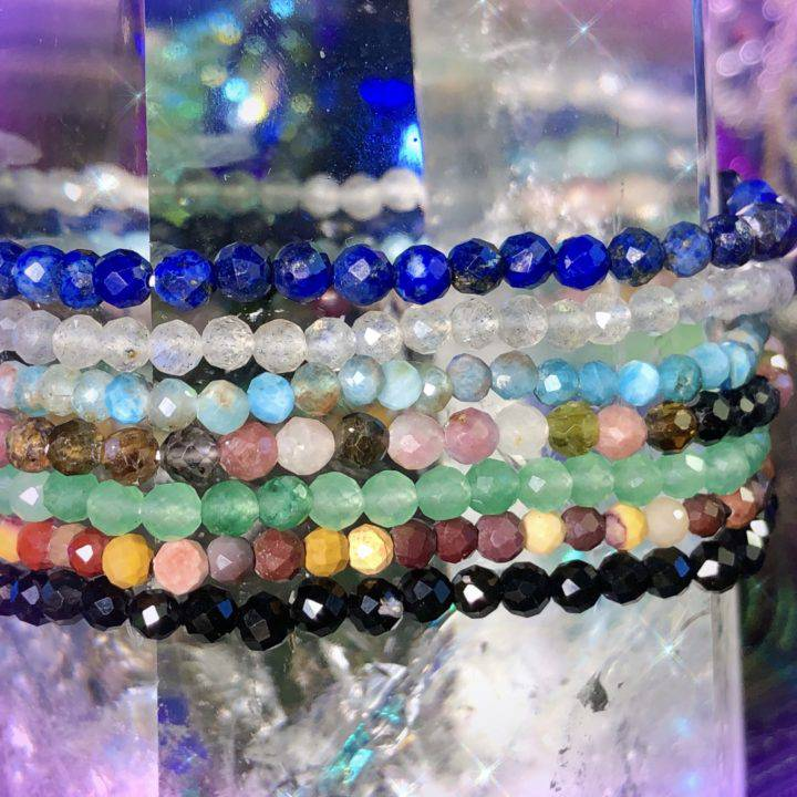 Athena's Favorite Trio of Faceted Stacker Bracelets