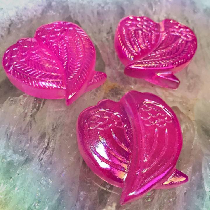 Celestial Love Pink Aura Rose Quartz Angel Wings