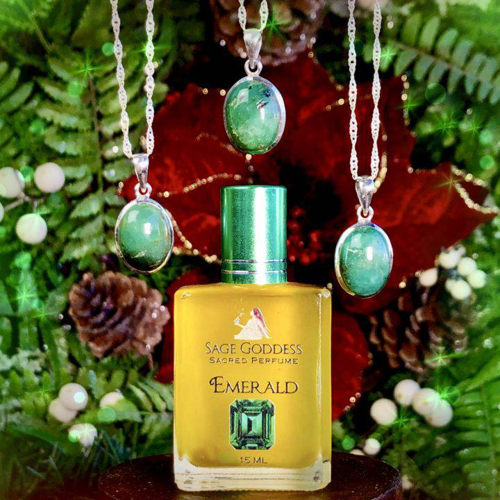 Ethiopian Emerald Personal Power Pendants with Emerald Perfume 1of3_11_29