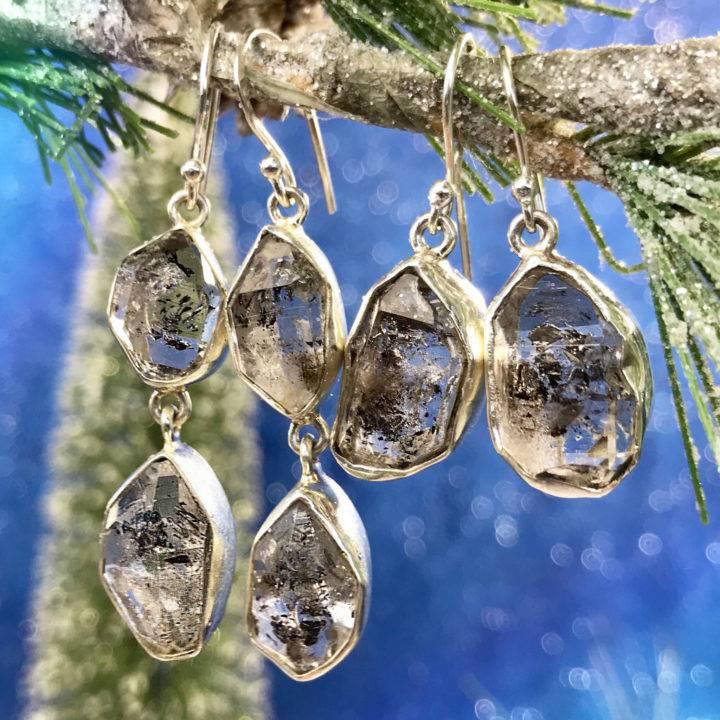 Herkimer Diamond Sisterhood Drop Earrings