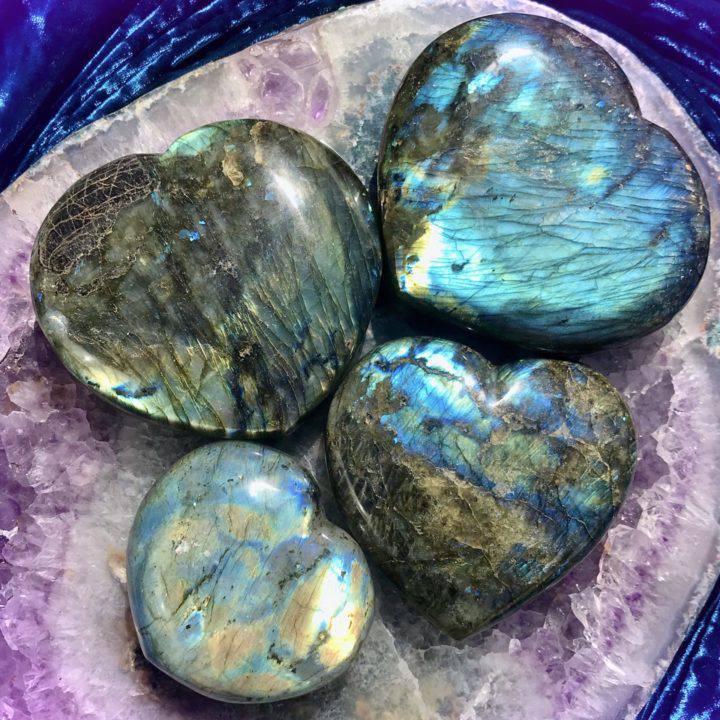 Labradorite Visioning Hearts