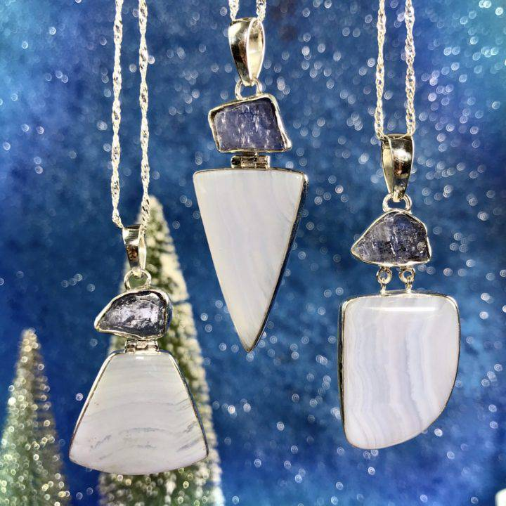 Intuitive Awakening Blue Lace_Agate_and_Tanzanite Pendants 1of3_11_2