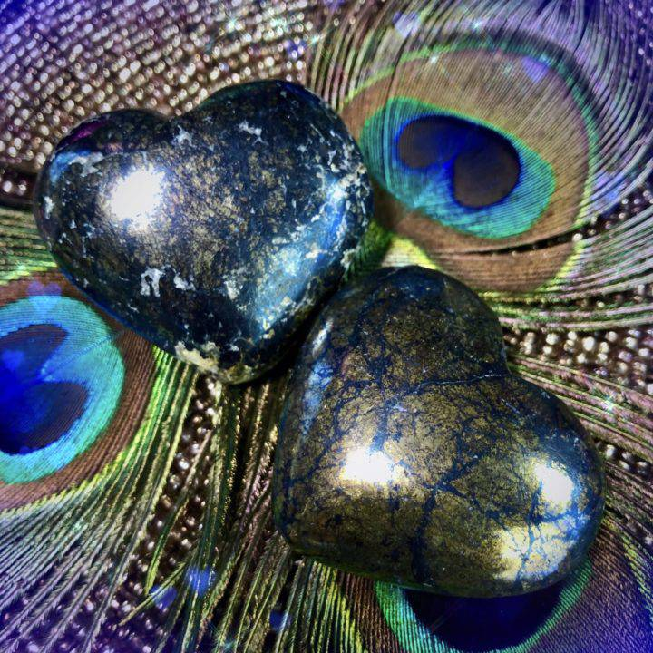 Intuitive Dream Space Covellite Hearts