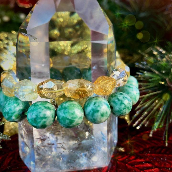 Jade and Citrine Ultimate Prosperity Bracelet Duo