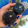 Love and Alignment Ruby and Kyanite Spheres with Kyanite Perfume