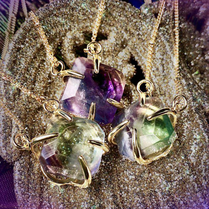 Mixed Fluorite Soul Pathing Necklaces
