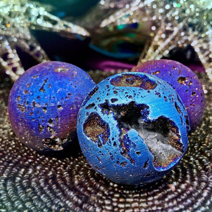 Planetary Aura Quartz Spheres