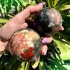 African Bloodstone Spheres