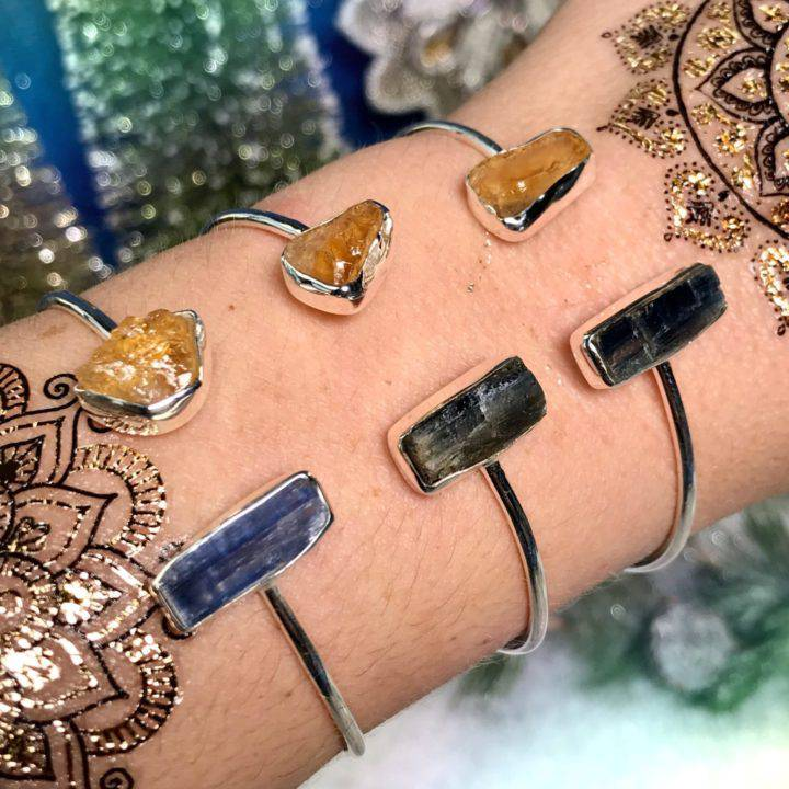 Prosperity and Alignment Blue Kyanite and Citrine Bracelets 1of3_11_28