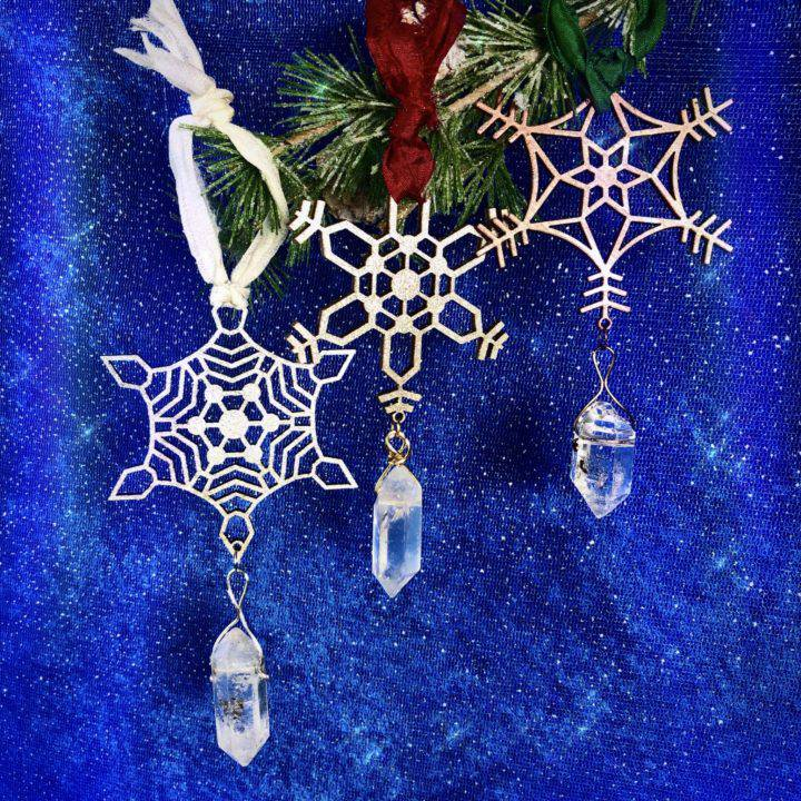 Shimmering Snowflake Holiday Ornaments