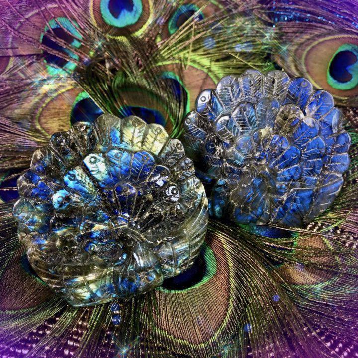 Spark Your Imagination Labradorite Peacocks