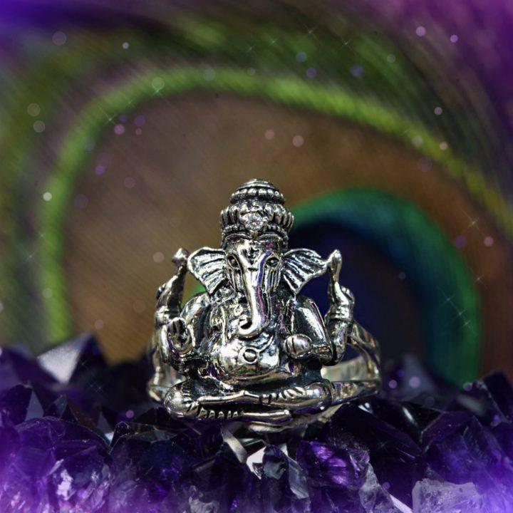 Sterling Silver Ganesha Abundance Rings