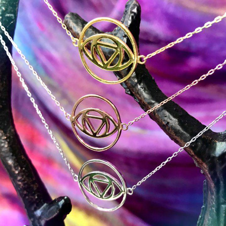 Third Eye Opening Sterling Silver Chokers