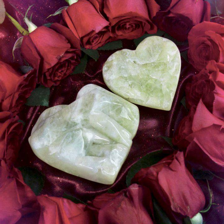 Twin Flame Sulfur Quartz Hearts