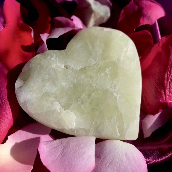 Twin Flame Sulfur Quartz Hearts
