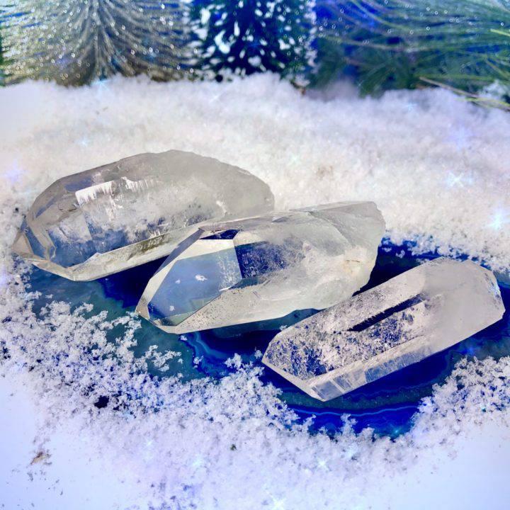 Ultimate Clarity Ice Lemurian Quartz Crystals DD_1of3_11_26