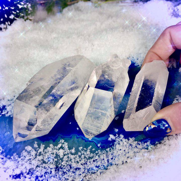 Ultimate Clarity Ice Lemurian Quartz Crystals DD_2of3_11_26
