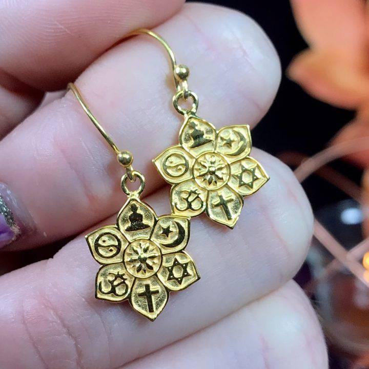 Coexist in Harmony Gold Earrings