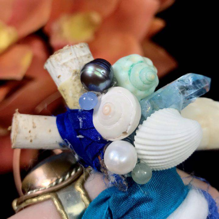 SG Custom Dream Catcher with Blue Agate and Lemurian Quartz