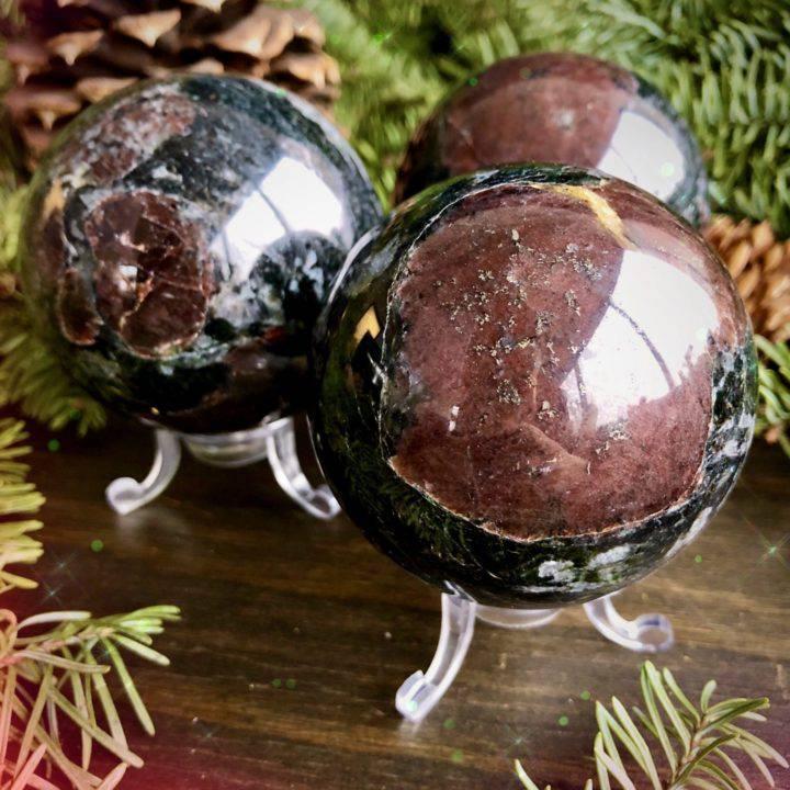 Arfvedsonite with Garnet Manifestation Spheres